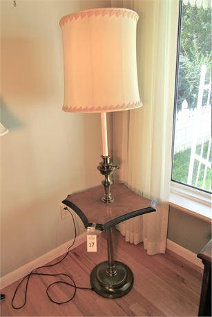 Vintage Stiffel Lamp & Table Combo