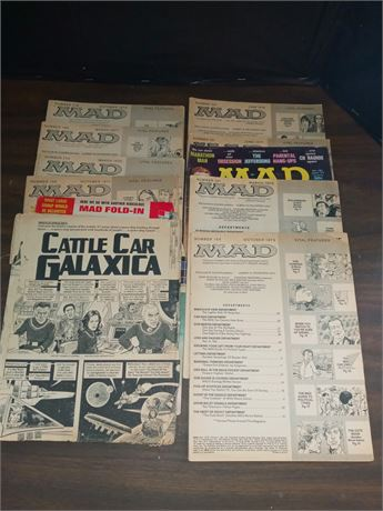 Mad magazines. No covers