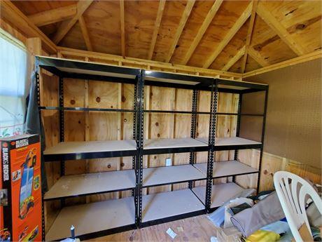 3 Metal Adjustable Shelving Units