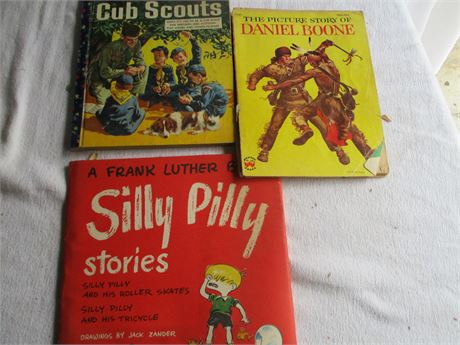 1950's Golden Book Cub Scouts Daniel Book & Silly Pilly Story Books