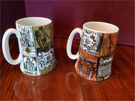2 Heatmaster Mugs Medieval Theme