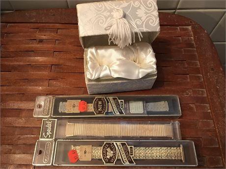 Antique Wedding Ring Box and Vintage Watch Bands