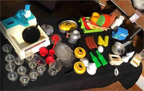 Fisher-Price Sink, Kitchenware and Plastic Food