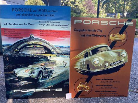Two Porsche Posters on Foam Core