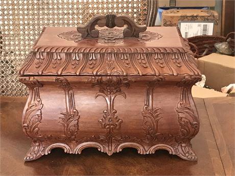 Beautiful Vintage Wood Tea Caddy