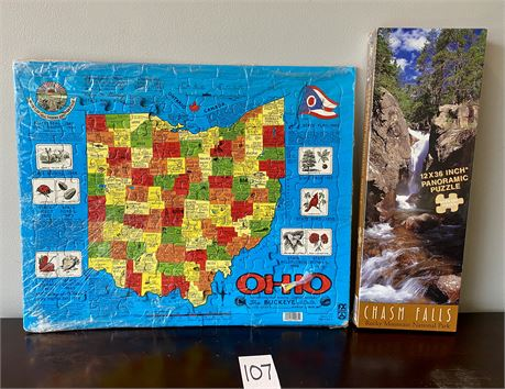 Puzzles of Ohio and Chasm Falls in Rocky Mountain National Park