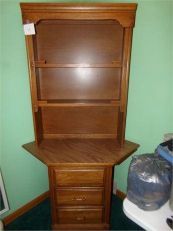 Corner Cabinet and Separate Hutch