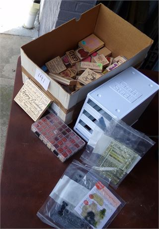 Stamps and  Storage Container