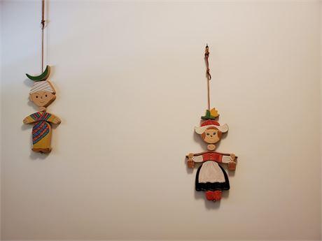 Vintage Ceramic Wall Hangings PEOPLES