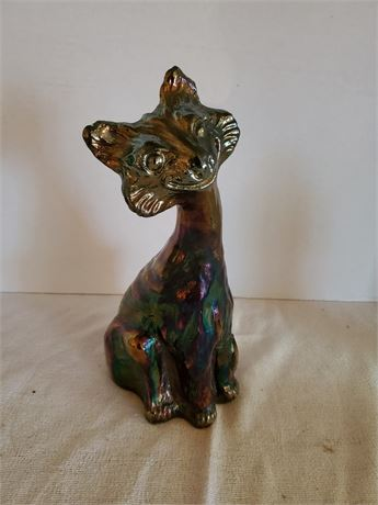 Vintage Fenton Carnival Glass Cat