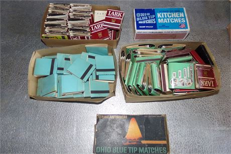 Match books, kitchen matches
