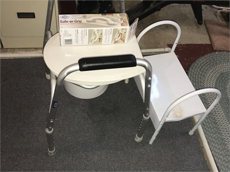 Bedside Commode and Shower Safety Lot