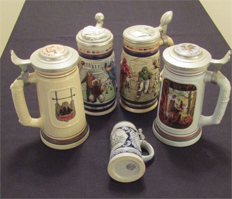 Avon Building Of American Collectable Beer Steins