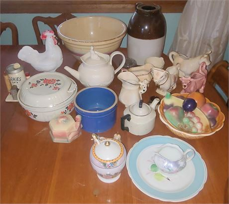Various Pottery & Glass Lot