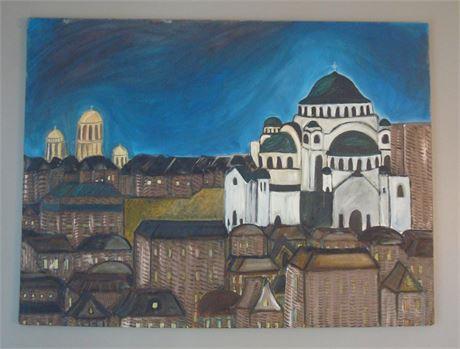 Original Painting of Cityscape