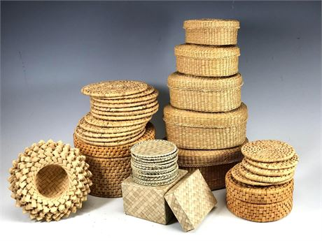 Woven Basket Collection with Nesting Baskets