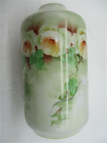 """Antique Hand Pinted Germany Marked RS Round Bud Flowr 5"""" Vase"""