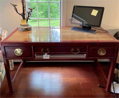 Elegant Henredon Mixed Wood Desk