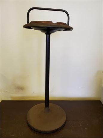 Vintage Pedestal w/ Glass Ashtray