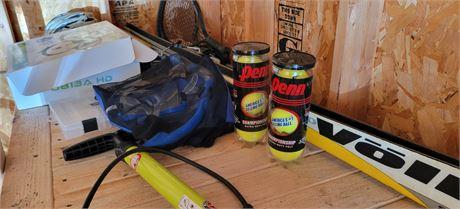 Drone, Skis, Raquets, Snorkling Gear, Bike Helmet