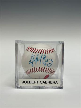Jolbert Cabrera Autographed Baseball