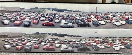 Retro Framed Original Photograph of East Holiday Car Show 1992