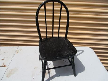 """Vintage 22 """" Bow Back Wood Children's Youth Chair"""