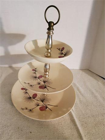 Vintage 3 Tiered Serving Dish