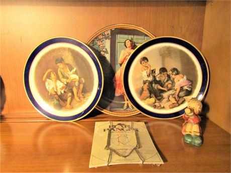 Vintage/Antique Schuman Arzberg Plates, Norman Rockwell Plate, & Hummel Figurine