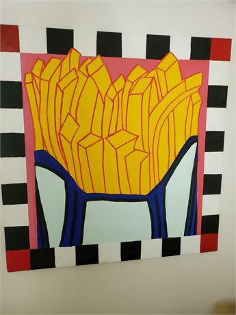 Really Big French Fries Painting on Canvas
